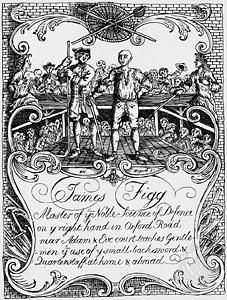 James Figg's trade card