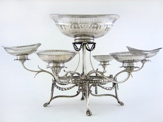 Neoclassical style epergne by Thos Pitts 1789