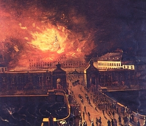 The palace on fire in 1794
