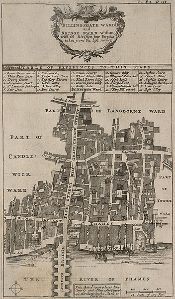 John Stow's Map of Eastcheap from 1720