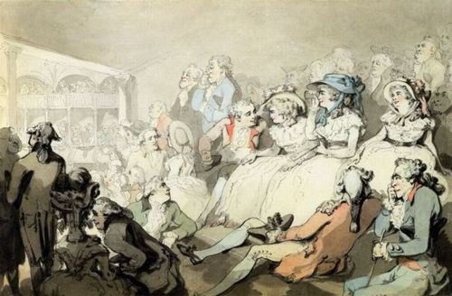 Thomas Rowlandson: An audience watching a play at Drury Lane Theatre, 1785