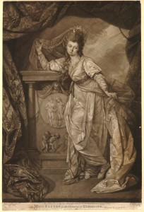 Ms Farren in character as Hermione, 1781, via the British Museum