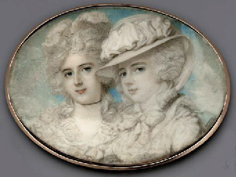 Waldegrave sisters by Richard Cosway per Christies