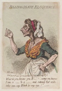 NPG D12513; 'Billingsgate eloquence' by James Gillray, published by  Hannah Humphrey