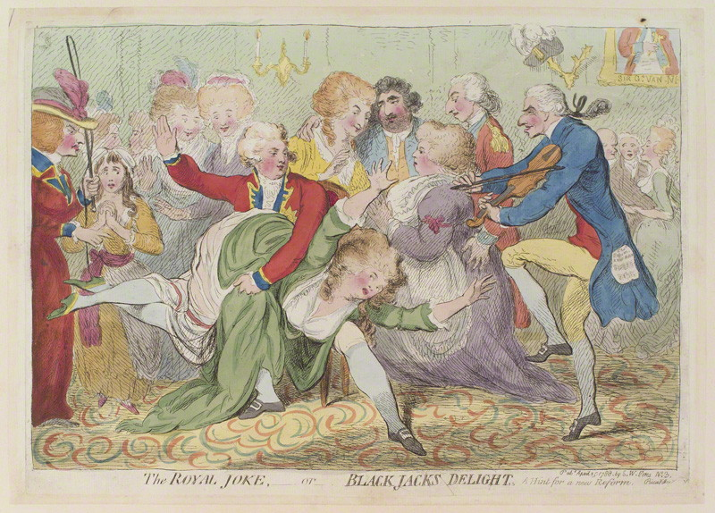 NPG D12996; 'The royal joke, - or - black jacks delight' by James Gillray, published by Samuel William Fores