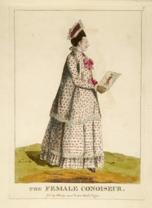 """The female Conoiseur"" - believed to represent Mary Darly"