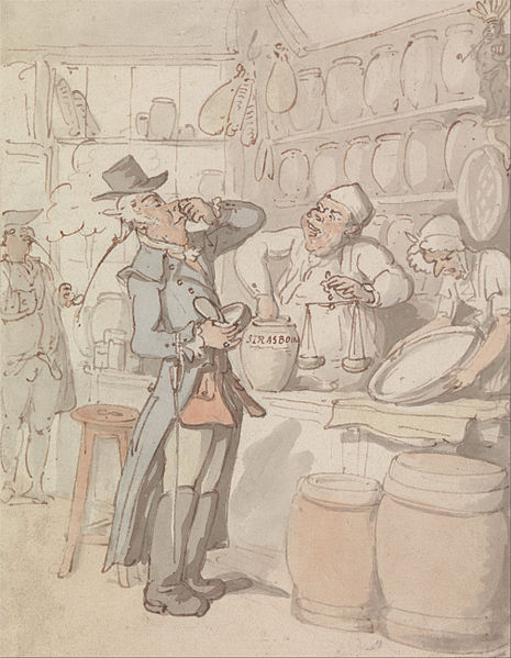 A man buying snuff, by Thomas Rowlandson