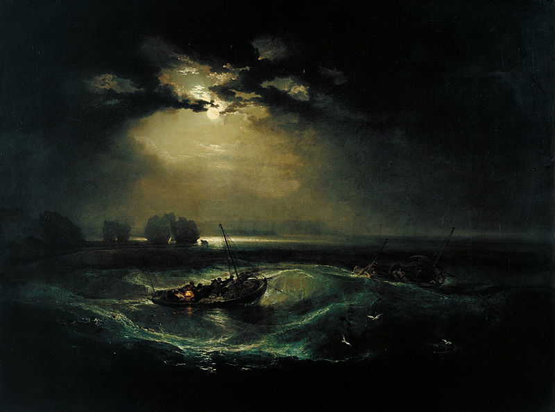 Fishermen at Sea,  by JMW Turner