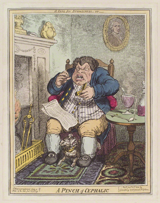 A pinch of cephalic' by George Cruikshank, c National Portrait Gallery