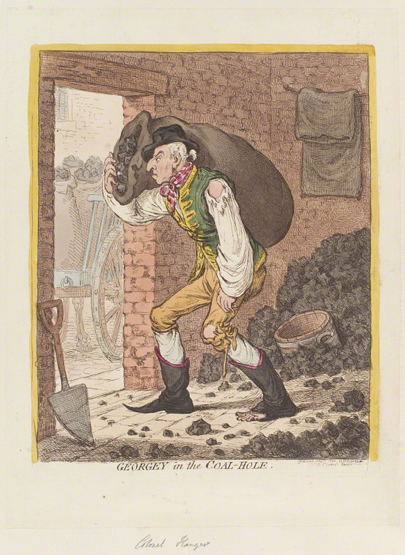 NPG D12741; George Hanger, 4th Baron Coleraine ('Georgey in the coal-hole') by James Gillray, published by  Hannah Humphrey