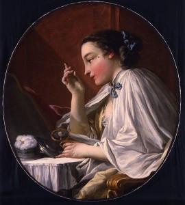 Dame a sa Toilette, by Boucher