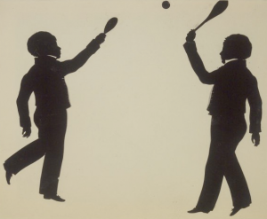 The Gibbs brothers playing squash