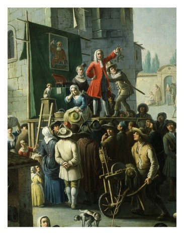 Extract from Giovanni Michele Graneri's Village Market Scene with Quack