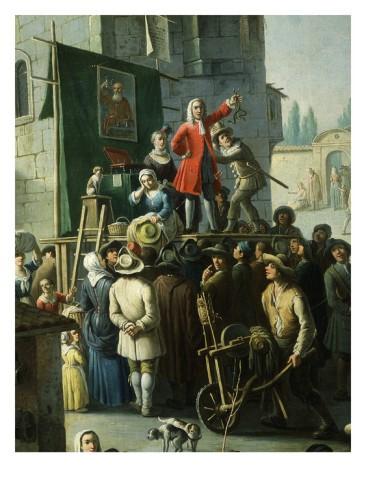 Extract from Giovanni Michele Graneri's Village Market Scene with Quack