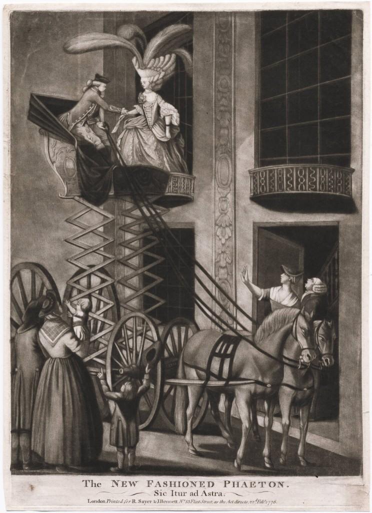 The new fashioned phaeton - sic itur ad astra  1776