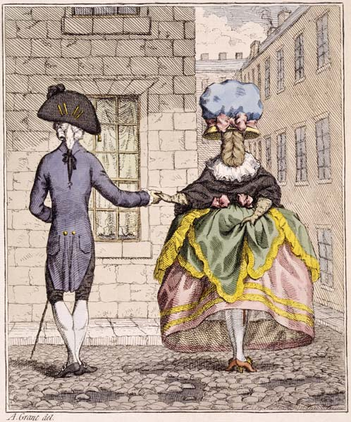 Crossing a Dirty Street: 18th century