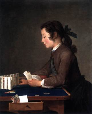 The House of Cards by Jean-Bapiste-Siméon Chardin, 1737 Nat Gallery of Art washington