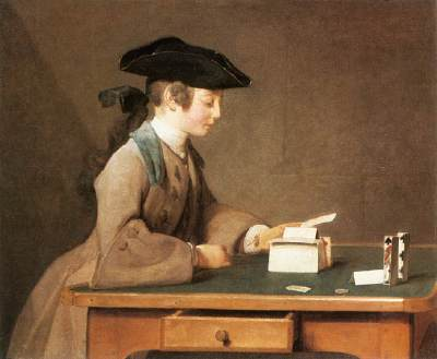 The House of Cards by Jean-Baptiste Chardin, 1736 National Gallery London