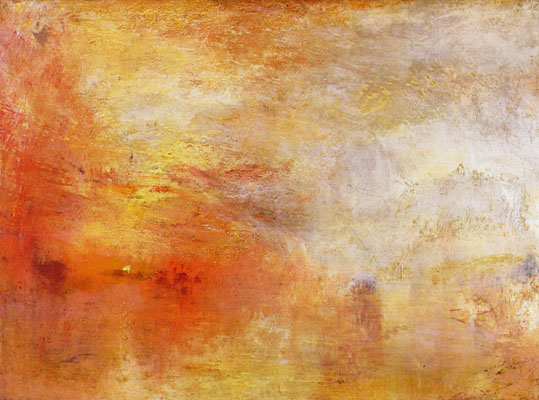J.M.W. Turner's 'Sunset over a Lake'
