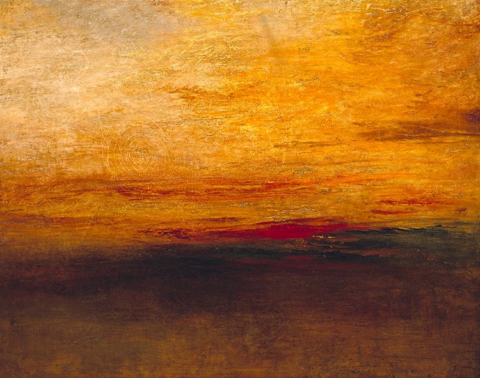 Turner 's 'Sunset' from 1830-5