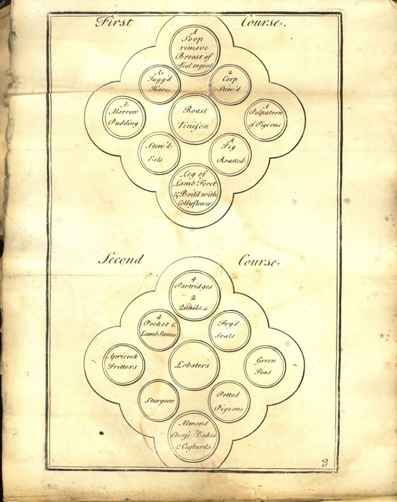 First and Second Course Layout E. Smith 1741