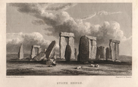 Stonehenge in the 18th Century,image courtesy of the Salisbury Museum