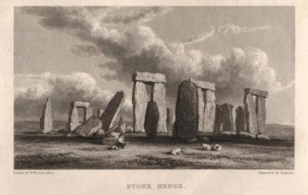 Stonehenge in the 18th Century,image courtesy of the Salisbury Museum
