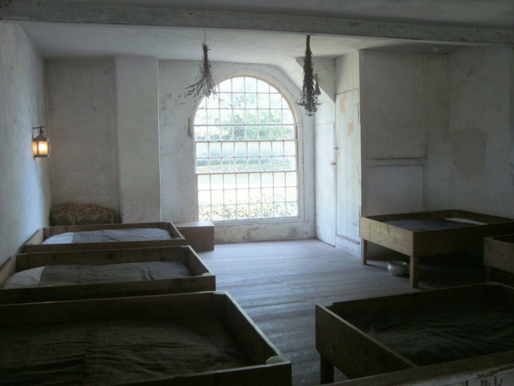 Thirty beds for sixty girls, in one room...