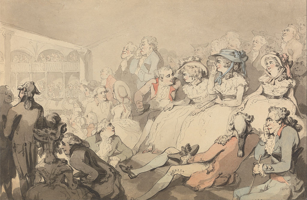 1024px-Thomas_Rowlandson_-_An_Audience_Watching_a_Play_at_Drury_Lane_Theatre_-_Google_Art_Project