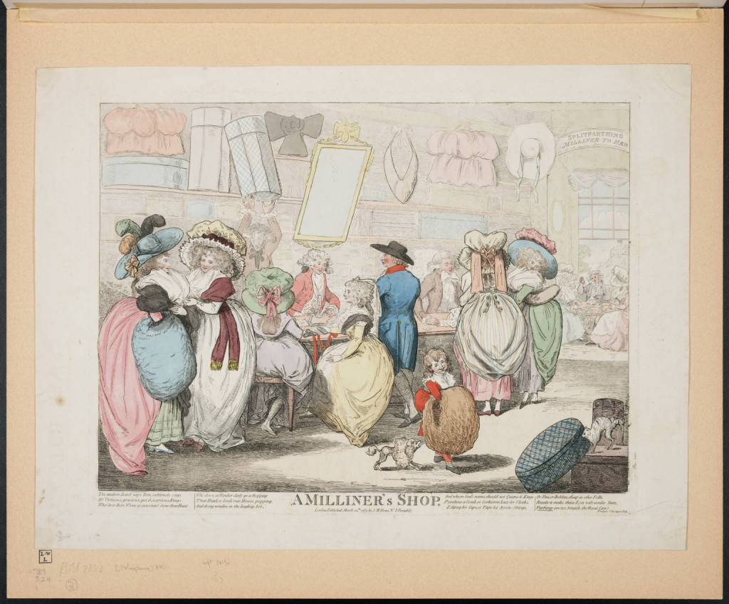 A Milliner's Shop, courtesy of the Lewis Walpole Library