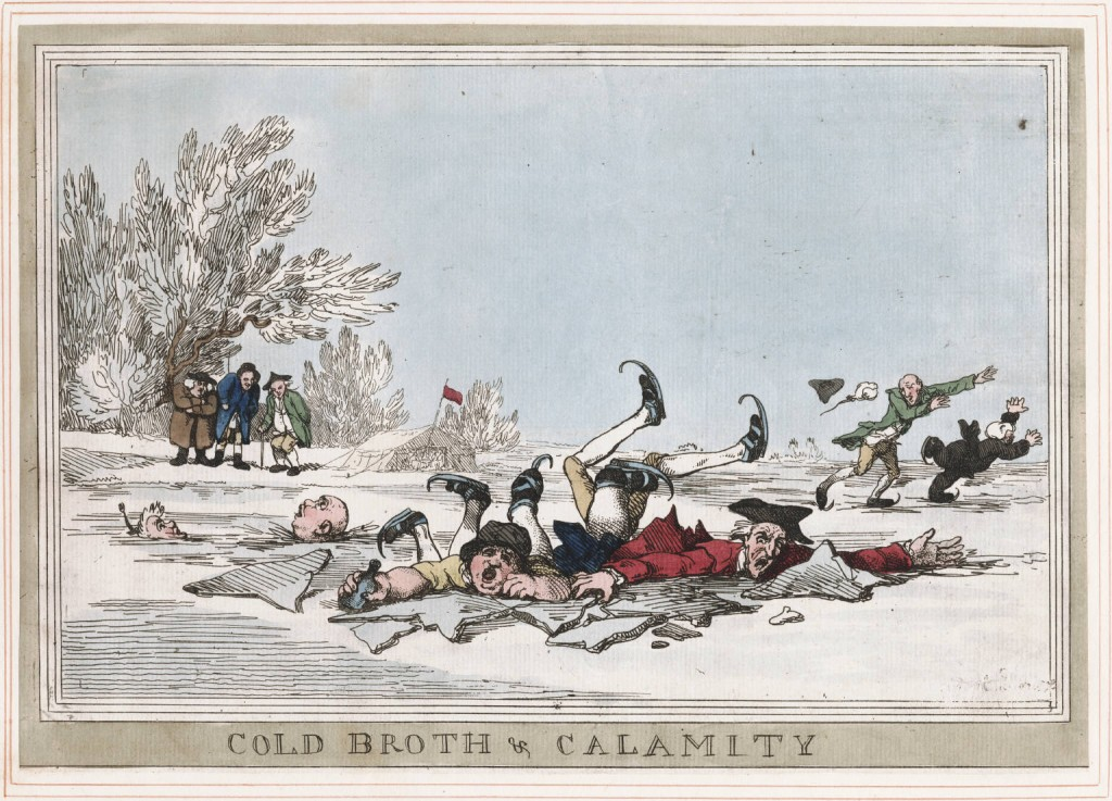 Cold Broth and  Calamity Rowlandson 1792