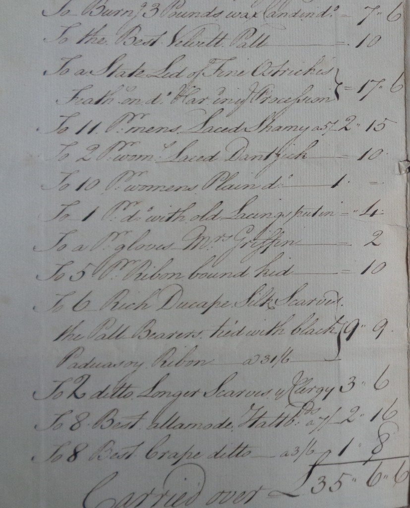 4 Chas Hall memorabilia Francis Hall funeral account (3)