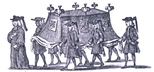 Funeral scene, shown courtesy of the Ephemera Society