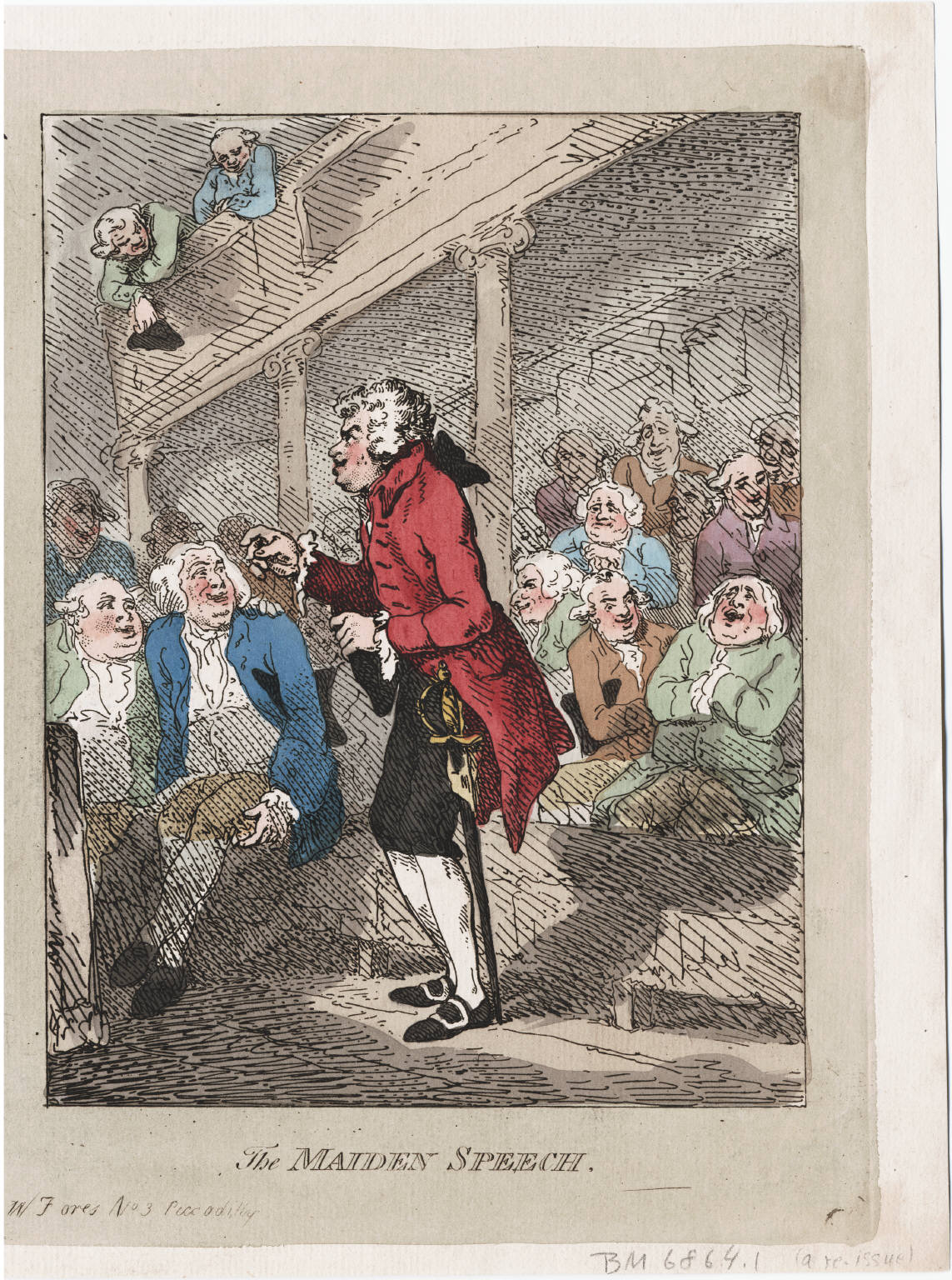 Thomas Rowlandson's Maiden Speach from 1792, courtesy of the Lewsi Walpole Library
