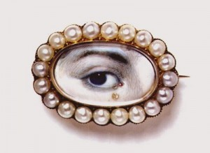 Eye brooch with diamond tera drop, shown courtesy of the V&A
