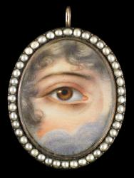 Eye  pendant from the 1830's.