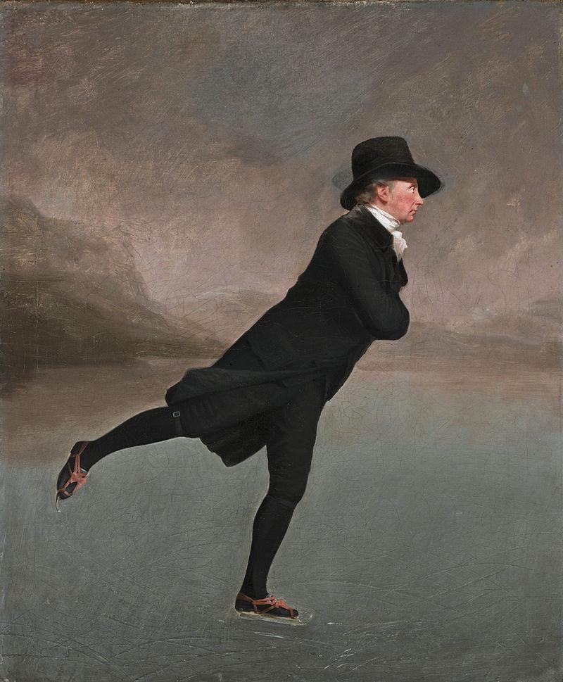 2 The_Skating_Minister Revd Robert Walker skating on Duddington Loch