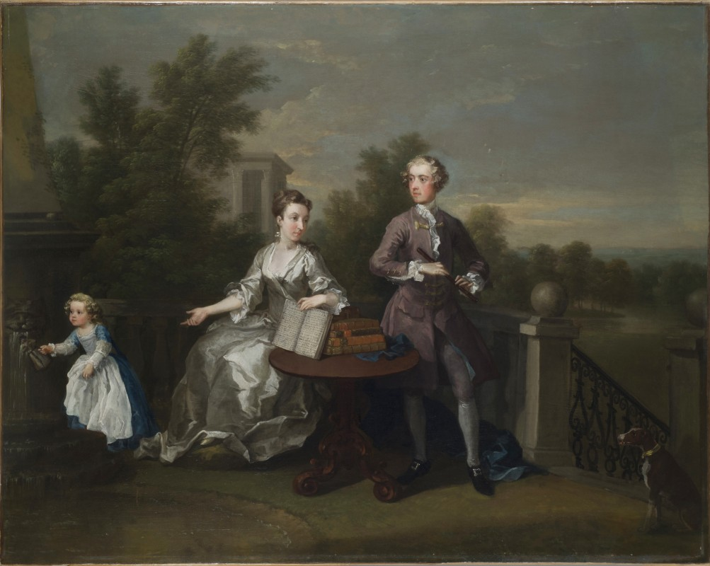 The Edwards-Hamilton Family on their Terrace in Kensington