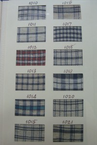 Display card from the 1790's showing the different patterns available.