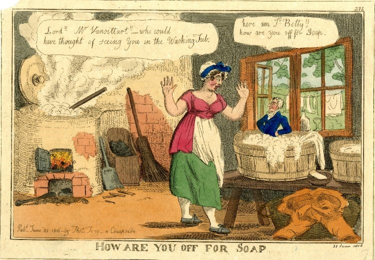 How are you off for soap. © British Museum.