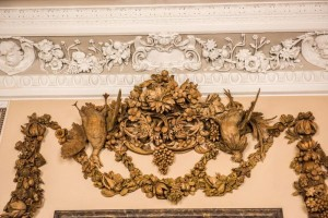 Detail of Grinling Gibbons carving