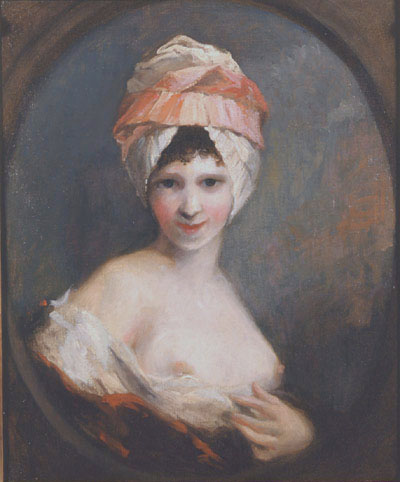 "Described as ""a Study for Lydia"" - same hat, same breasts... It poses the question: how much study did he really need to do?"