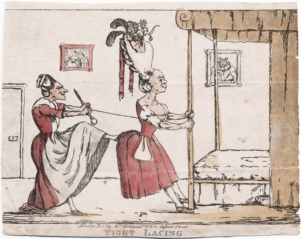 """Tight Lacing"" published by William Holland circa 1782"