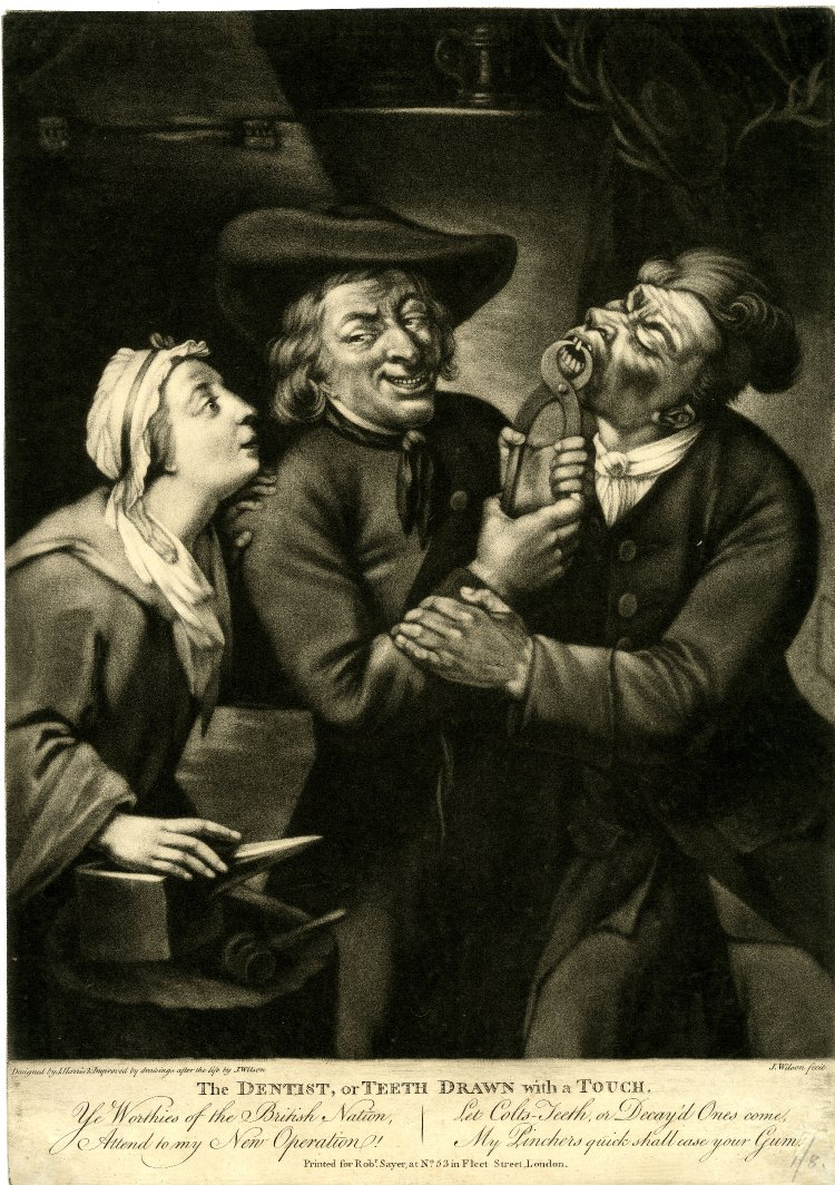 The Dentist or teeth drawn with a touch by Robert Sayer 1790-2