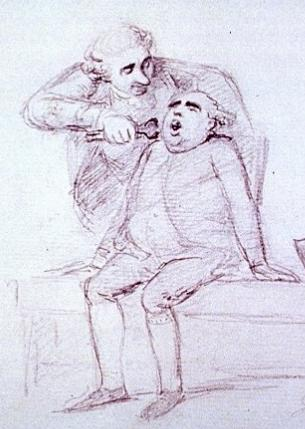 Extracting a tooth, by William Henry Bunbury
