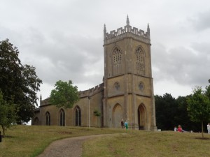 Croome Church, standing in splendid isolation