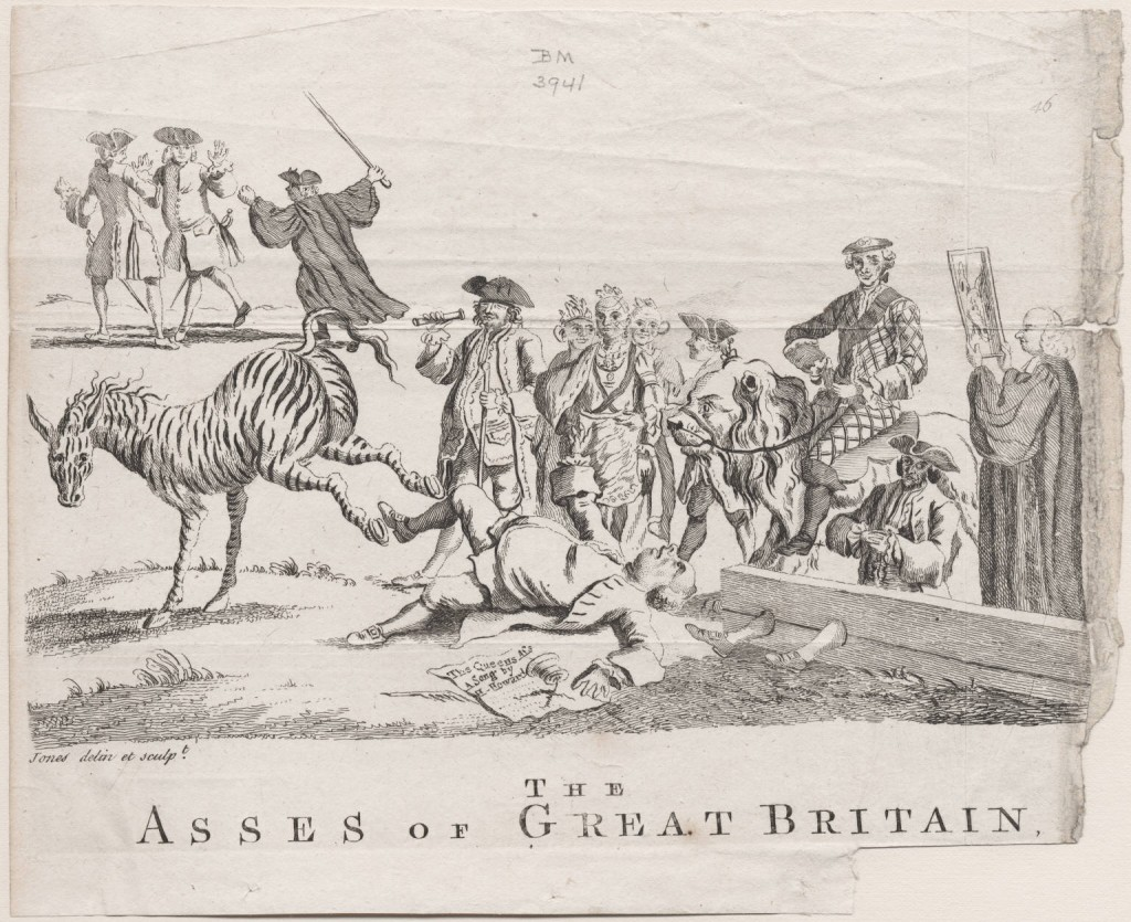 John Jones' asses of GB 1762 Bute Whitefield Fielding Murphy Smollett LWL