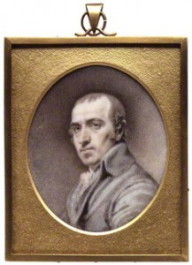 James Gillray, watercolour on ivory, circa 1800.© National Portrait Gallery, London