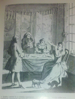 Quality control in a condom warehouse, c.1744