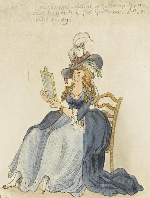 "Detail from Newton's ""Progress of a  Woman of Pleasure"""